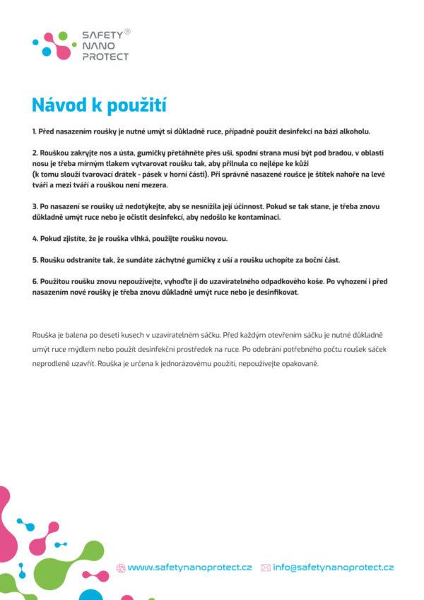 Ochranné roušky Safety Nano Protect Gen. 2.0 - DentalPoint.cz