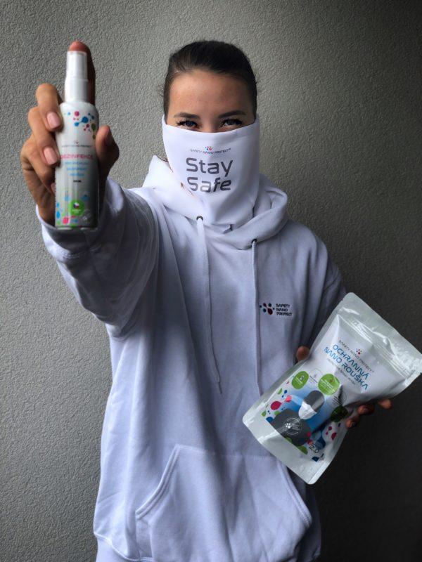 Desinfekce pro Safety Nano Protect roušky