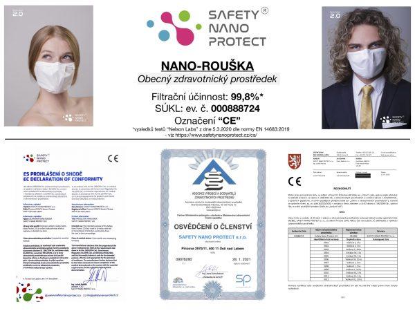 Ochranné roušky Safety Nano Protect Gen. 2.0 - DentalPoint Shop